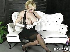 Monicamilf in een klassieke 30 & s porno video - norsk porno