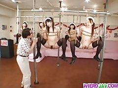 Kinky bondage voor sleazy meiden
